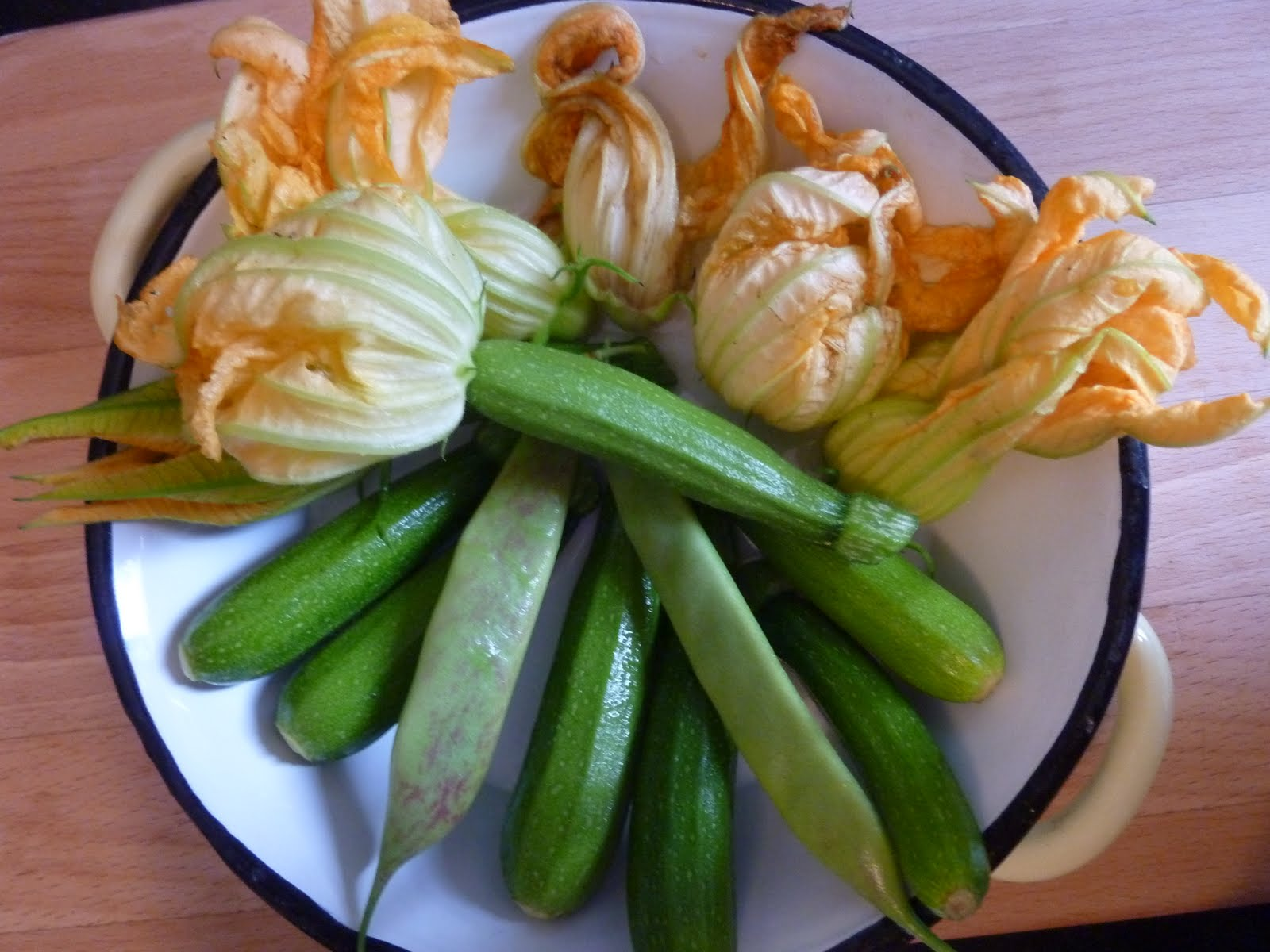 Stuffed (Hackney) Courgette Flowers with a Homemade Meatball Chaser