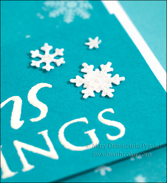 Snowflake with Rock CandyDistress Stickles Glitter