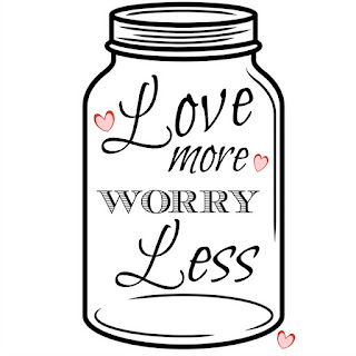 Clear Cut Crystal Designs Love More Worry Less Wooden Sign