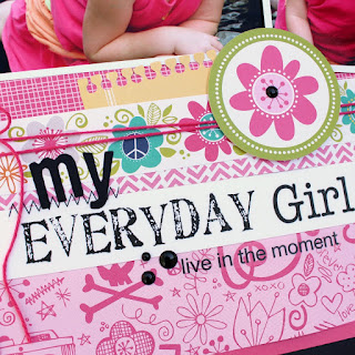 SRM Stickers Blog - My Everyday Girl Layout by Tessa Wise - #layout #stickers #twine #stickerstitches #girl