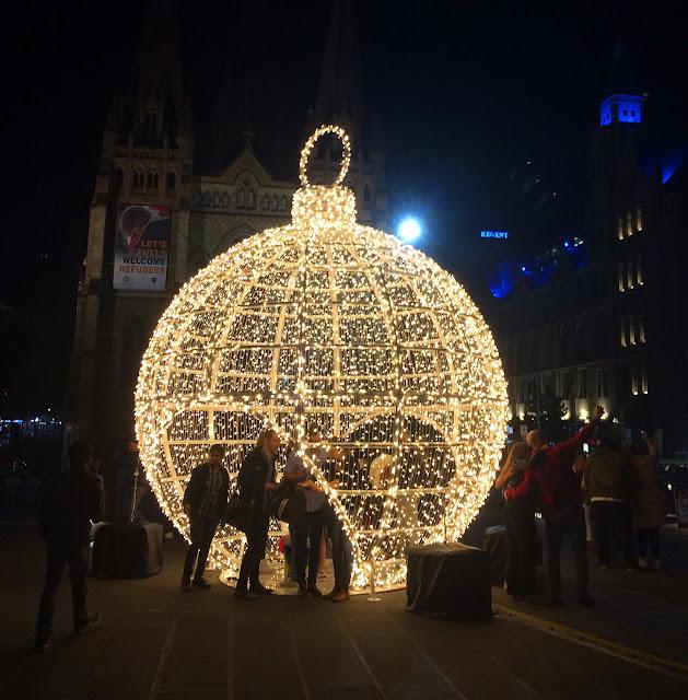 Christmas Lights Federation Square Melbourne