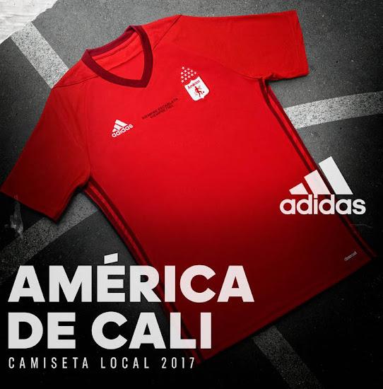 Asistente carga Presa  América de Cali 2017 Home Kit Revealed - Footy Headlines