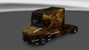 Fire Dragon Skin for Scania T Longline