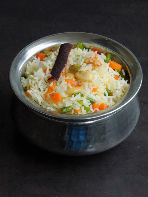 Assamese Sweet Vegetable Pulao, Sweet Vegetable Pulao