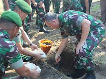 Pangdam XIII/Merdeka  peletakkan batu pertama pembangunan Rumah Sakit Korem Gorontalo