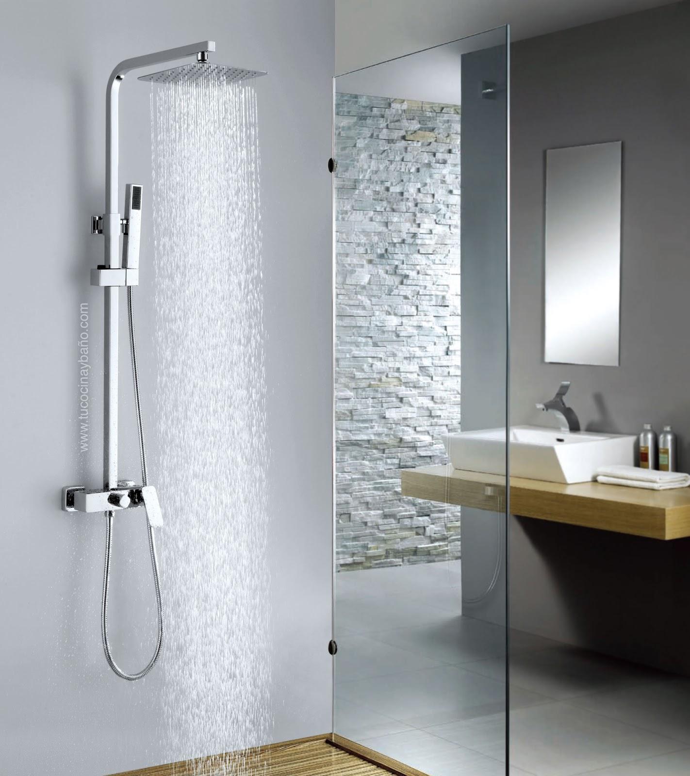 Barra de ducha con rociador tu cocina y ba o for Rociadores de ducha