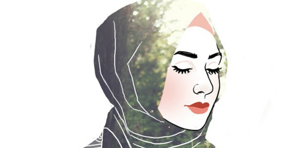 Foto Wanita Muslimah Sedih