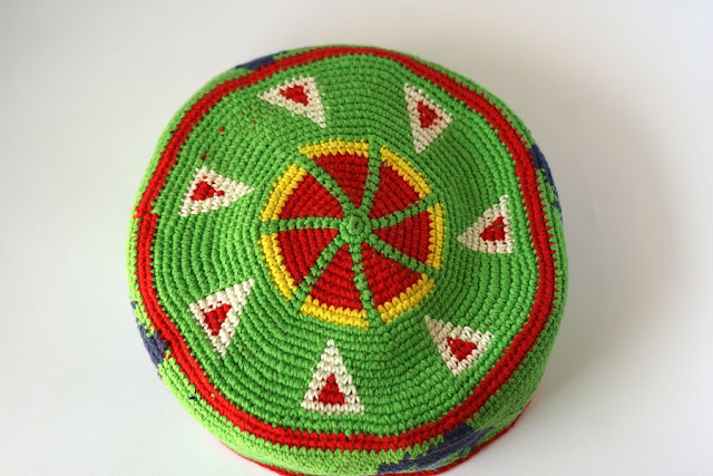 Tapestry crochet kufi hat Сaws by TomToy