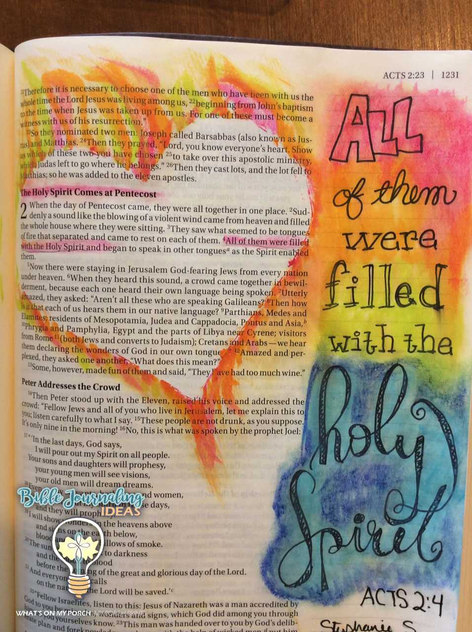 Bible Journaling Ideas: Bible Journaling: Words & Fonts