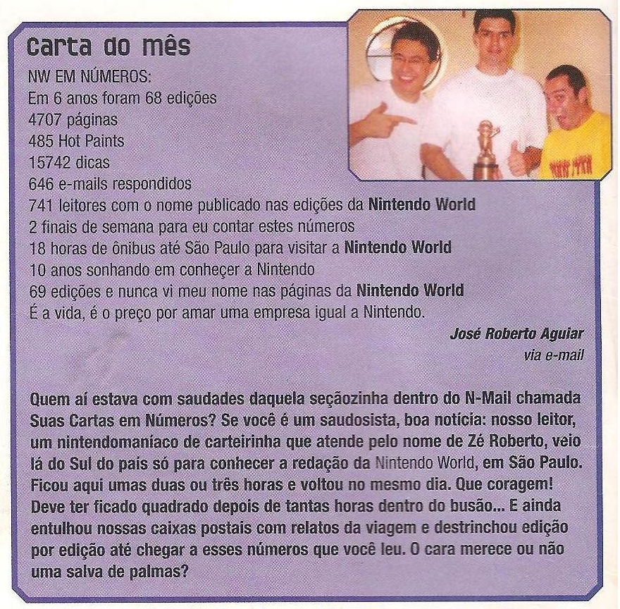 nintendo world carta do mes jose roberto aguiar