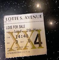 Sobekan Tiket Bioskop saat menonton Film Love For Sale
