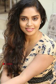 Telugu Actress Karunya Chowdary Stills in Short Dress at ATM Not Working Press Meet  0259.jpg