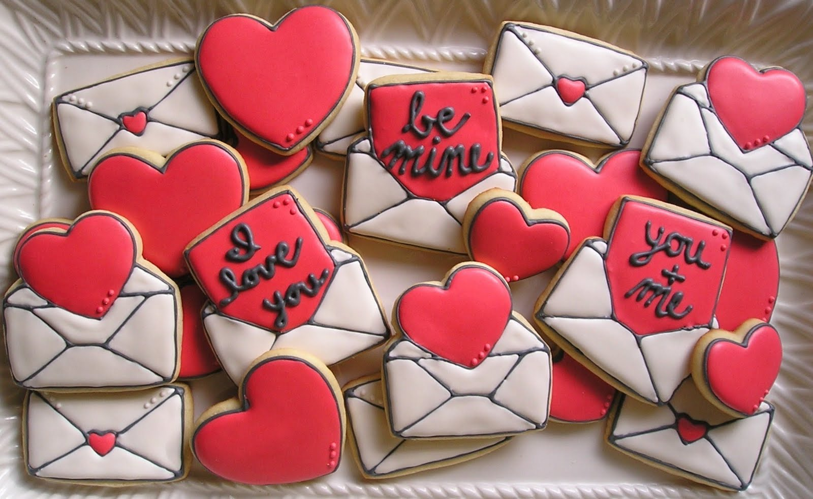 Sugar Dot Cookies Valentine Envelope And Love Note Decorated Sugar