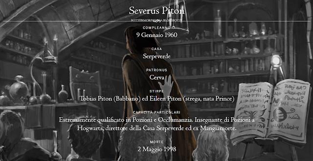 Scheda di Severus Piton