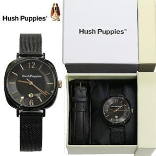 Jam Tangan Hush Puppies wanita Kw hitam