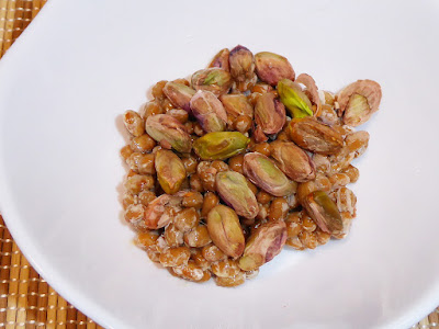 納豆にピスタチオ(木の実)感覚