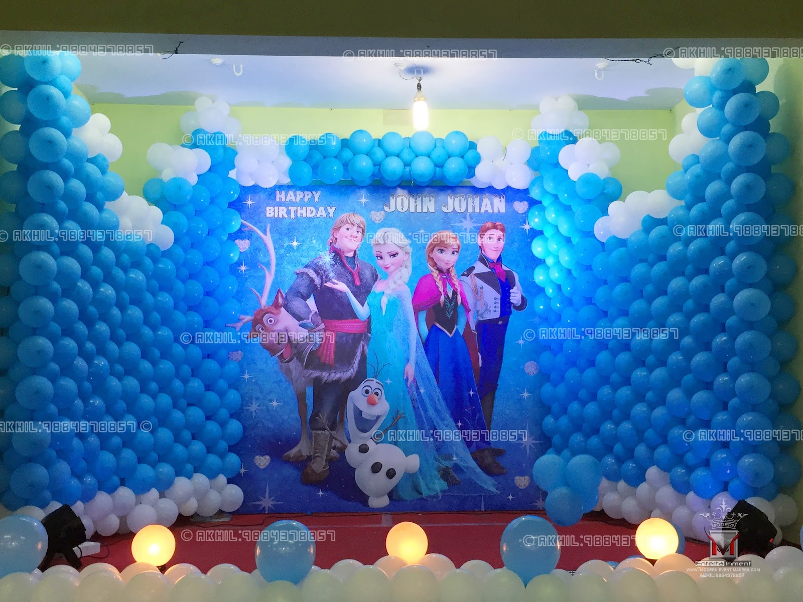 Event management company balloon decoration modern for Frozen balloon ideas