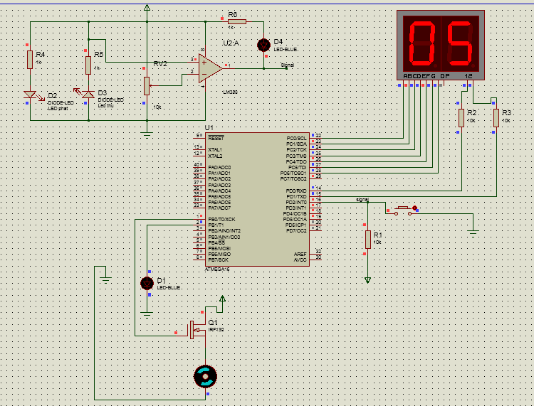 Mạch đếm sản phẩm 00 - 99 + ATmega 16