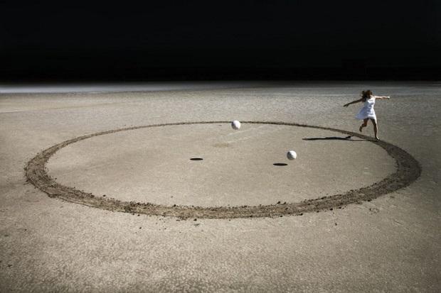 Corinne Mercadier foto arte, imagenes chidas surrealistas, mujer corriendo