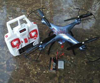 pengujian baterai syma x5hw dengan upgrade baterai