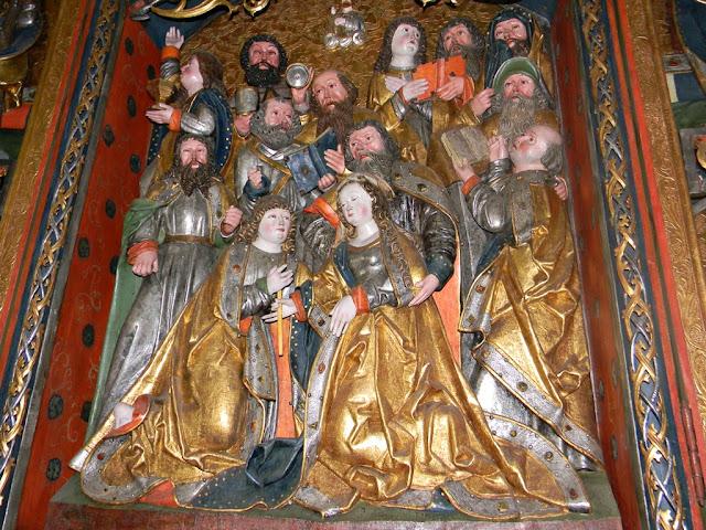 święci, Sobin, kościół, postacie świętych