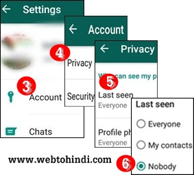 Whatsapp par apna last online chat seen dusro se kaise