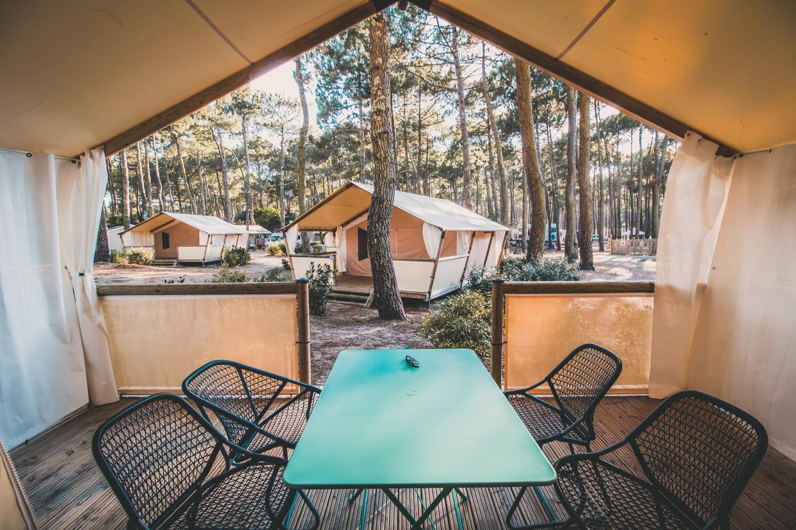 tente camping le vivier biscarrosse