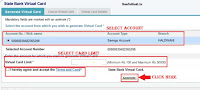 Create Virtual ATM Card in SBI