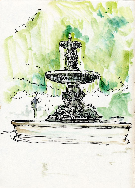 Brunnen Zeichnen