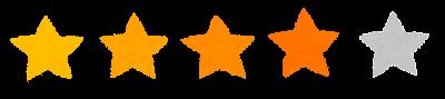 5段階評価の星印マーク(4)