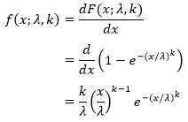 Distribusi Weibull ~ Rumus Statistik