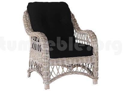 sillón rattan con cojines j250
