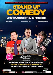 Stand-Up Comedy Sambata 3 decembrie Bucuresti | de la 20:30 si 23:00