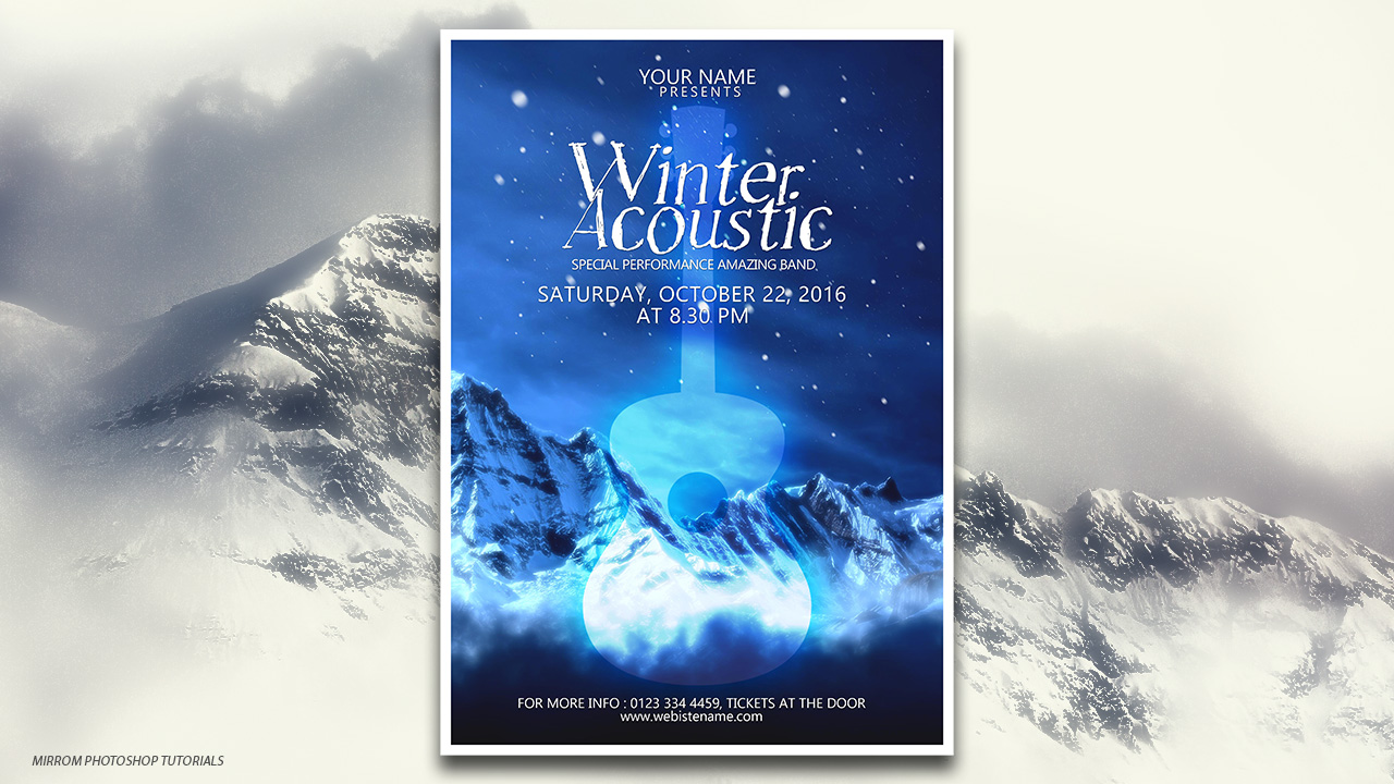 Designing a Winter Acoustic Poster In Photoshop