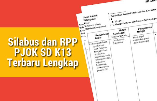 Silabus dan RPP PJOK SD K13 Terbaru Lengkap