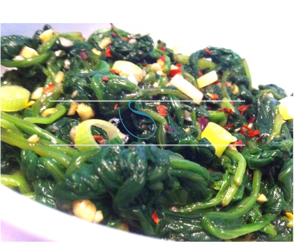 Asian flavored spinach salad - Salade d'épinards aux saveurs asiatiques