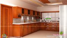 Modular Kitchen Living And Bedroom Interior - Kerala Home