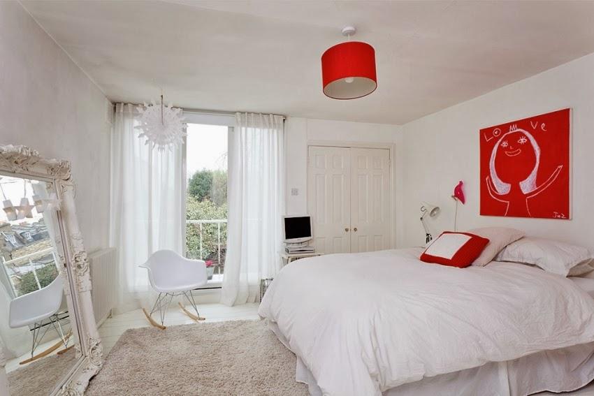 Wesołe mieszkanie w stylu skandynawskim, wystrój wnętrz, wnętrza, urządzanie domu, dekoracje wnętrz, aranżacja wnętrz, inspiracje wnętrz,interior design , dom i wnętrze, aranżacja mieszkania, modne wnętrza, styl skandynawski, scandinavian style, styl nowoczesny, czerwone dodatki, sypialnia