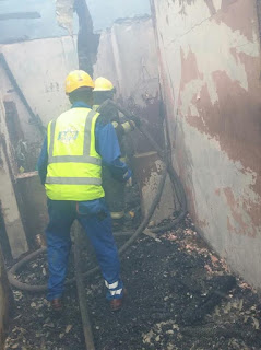 80-year-old Man dies in House inferno started by immersion water heater (see photos)