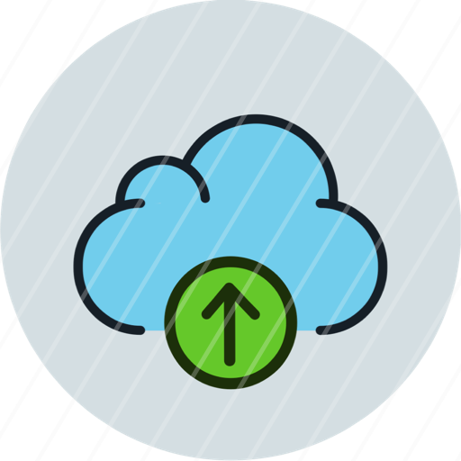 cloud data storage upload icon