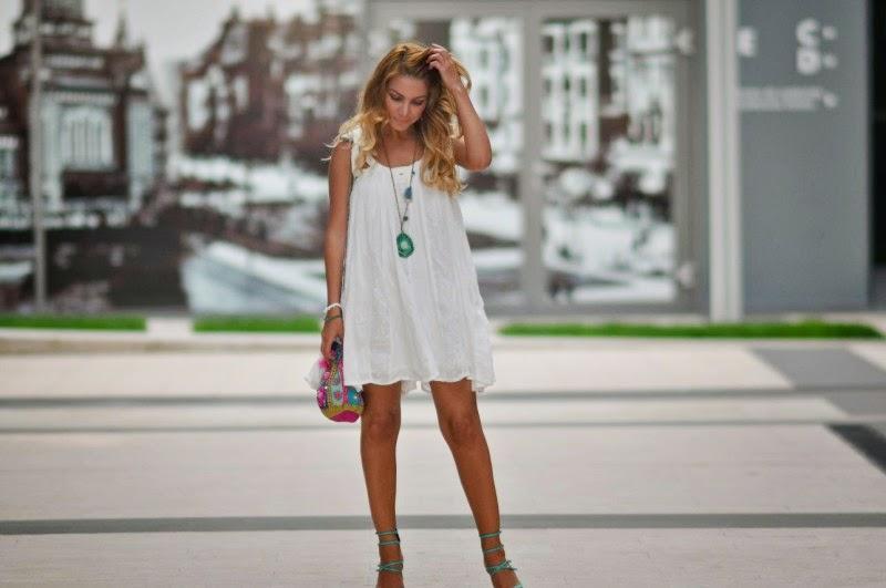 white turquoise dress  eBay