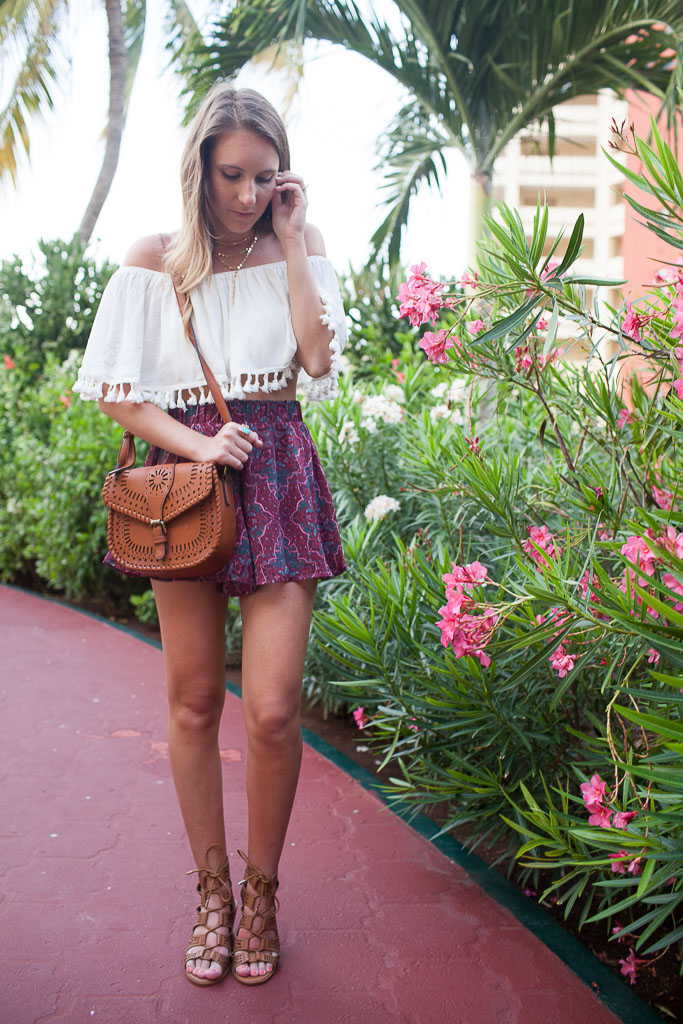 Easy summer style - swing shorts and a crop top.