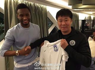 John Mikel Obi Joins Chinese Club,Tianjin TEDA