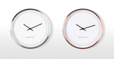 Silver and copper rose gold wall clock