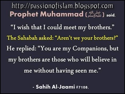 Islam Is My Passion: Hadith - Prophet Muhammad SAW saying