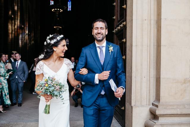 boda pamplona bodegas arinzano novia laure sagazan vestido