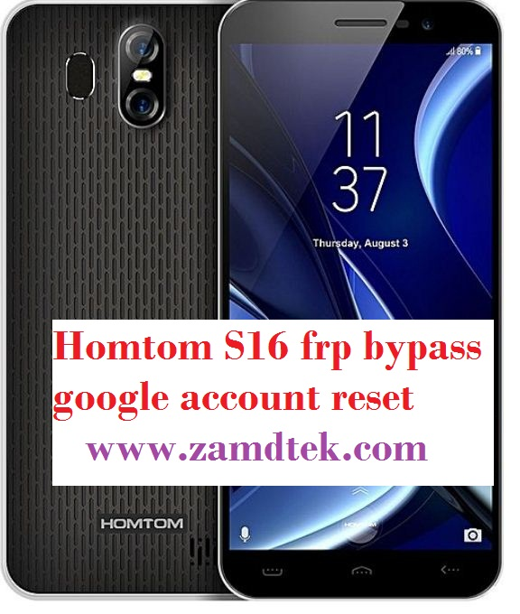 Homtom S16 frp bypass, google reset and pattern removal