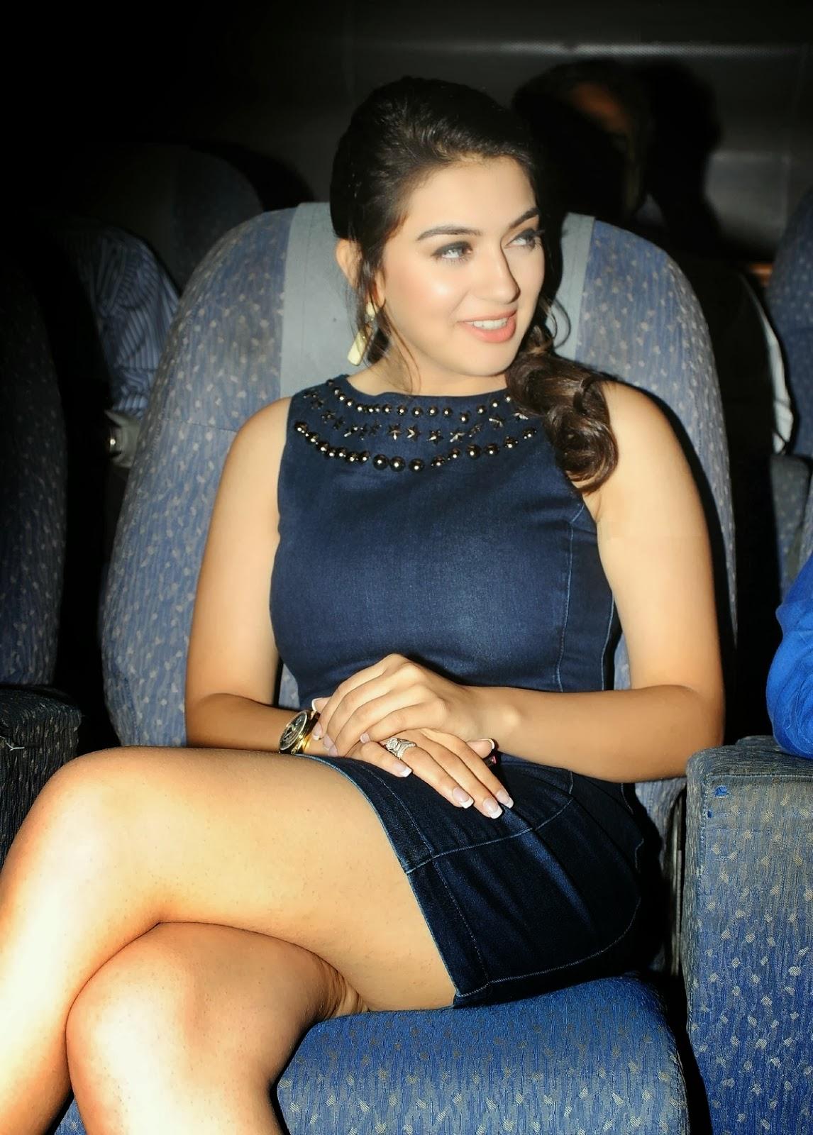 Hansika Motwani Showcasing Her Big Boobs And Milky Legs In -6061
