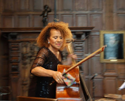 Hatfield House Chamber Music Festival: Chi-Chi Nwanoku in the Marble Hall (Photo Rose Cecil)