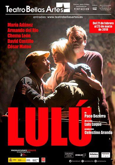 """Teatro: """"Lulú"""" con María Adánez en Teatro Bellas Artes"""